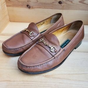Cole Haan 11.5 Leather Gold Horsebit dress loafers